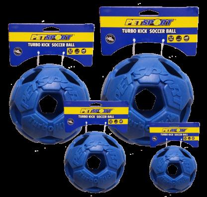 Turbo Kick Soccer Ball 10cm Blauw