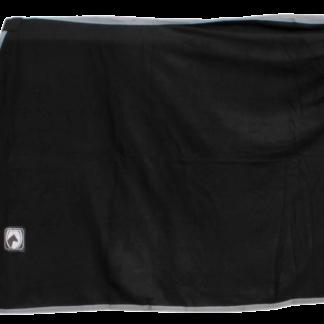 Zweet/Fleece deken zw/gri 125/175cm