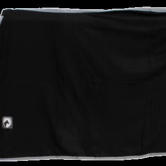 Zweet/Fleece deken zw/gri 135/185cm