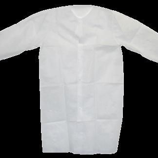 Wegwerp bezoekersjas wit non woven XL